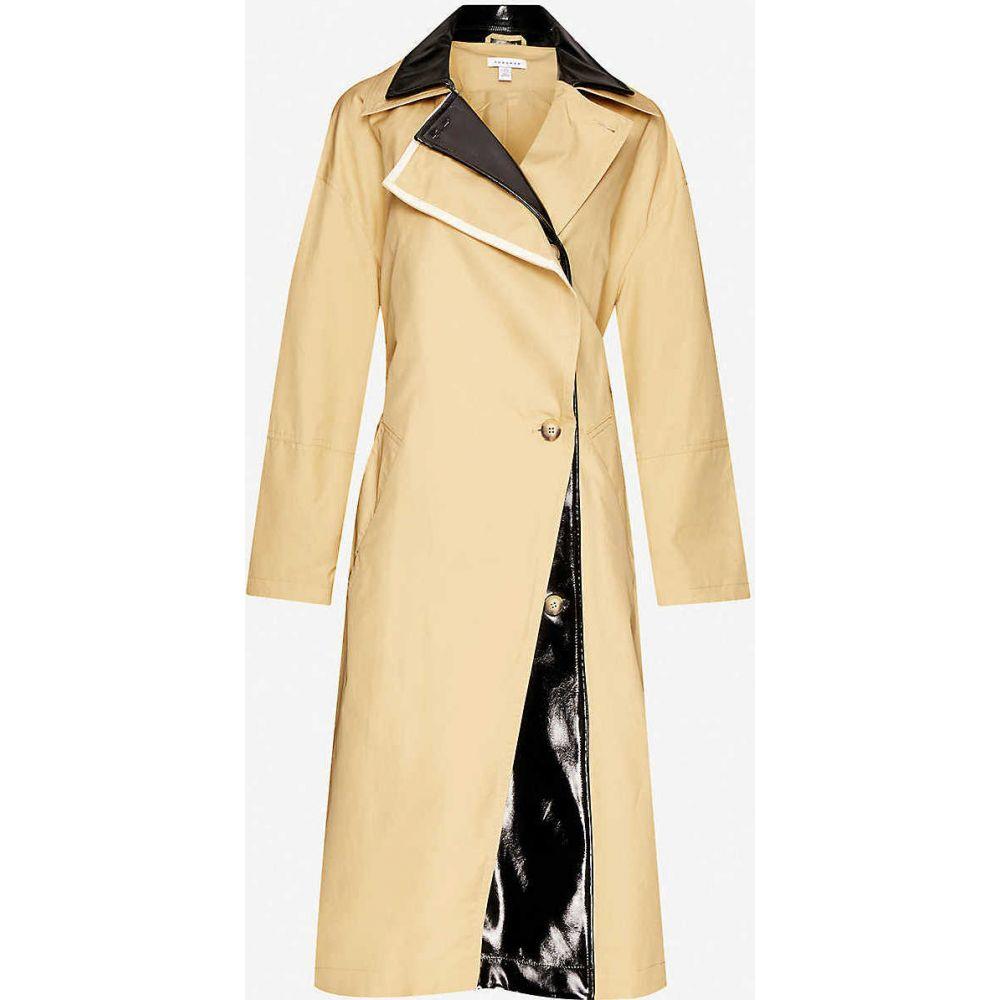 トップショップ TOPSHOP レディース トレンチコート ダブルブレストコート アウター【Dubbie double-breasted cotton trench coat】MULTI