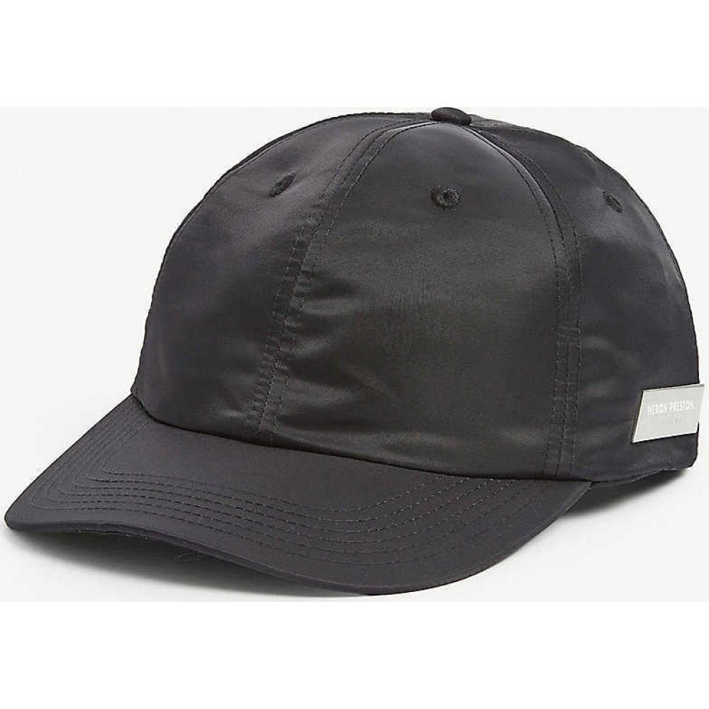 ヘロン プレストン HERON PRESTON メンズ キャップ ベースボールキャップ 帽子【Logo plaque nylon baseball cap】BLACK