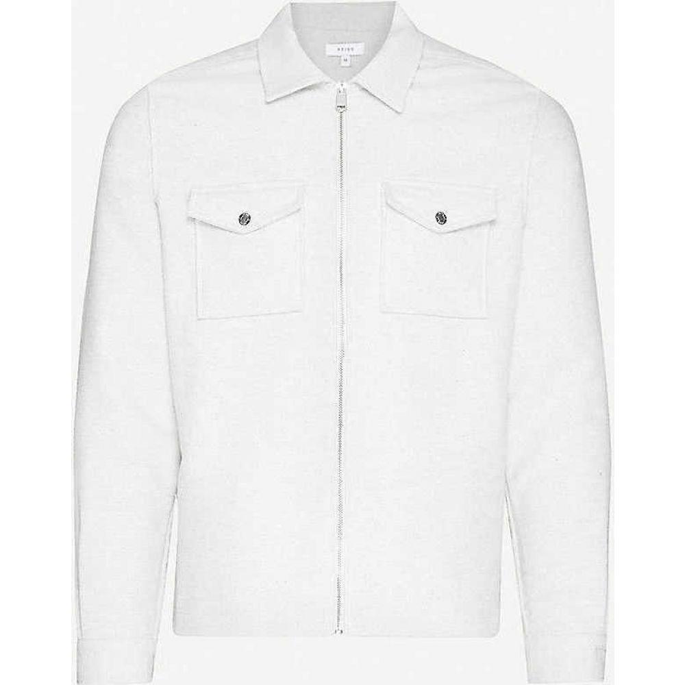 リース REISS メンズ ジャケット アウター【Vice cotton-jersey jacket】GREY