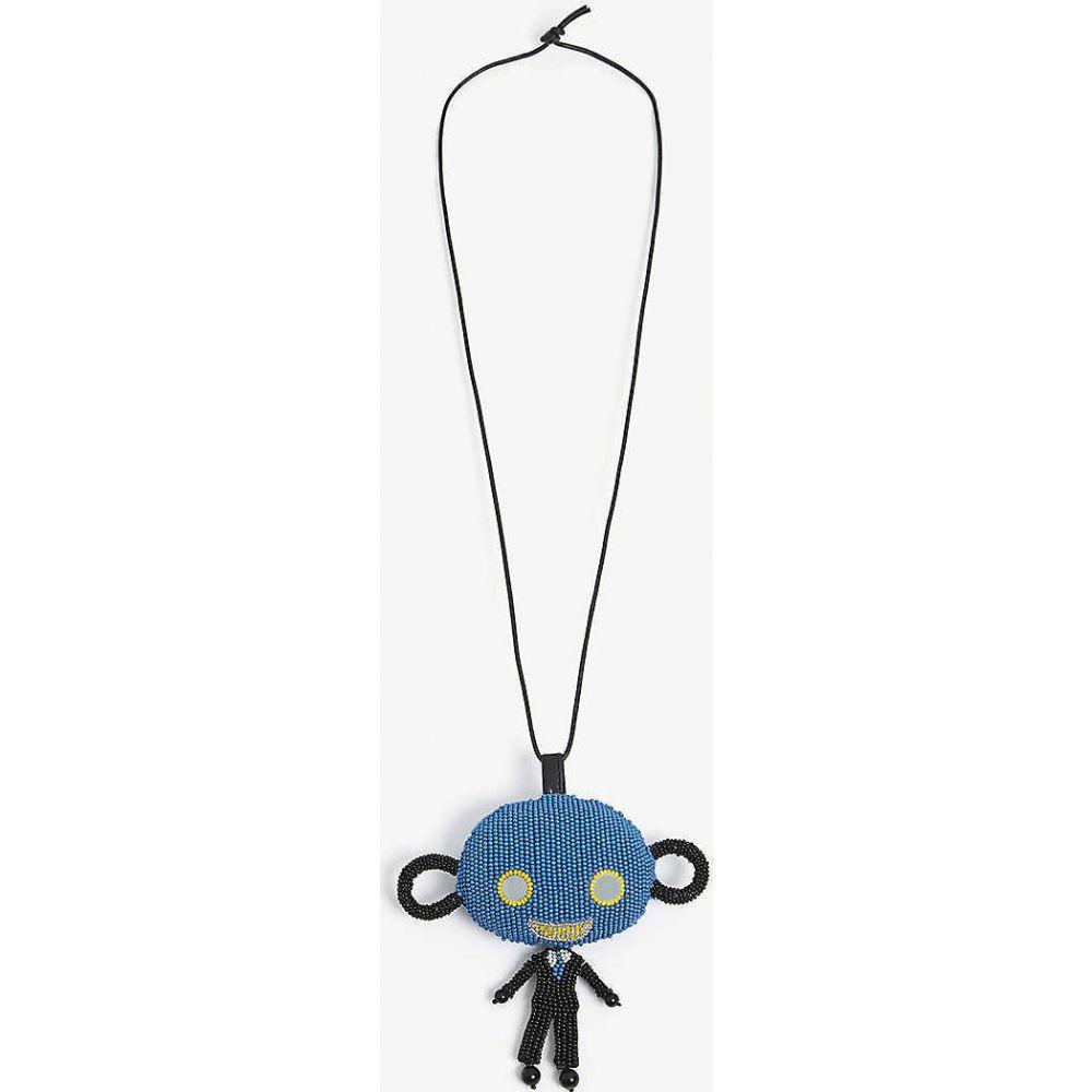 ウォルター ヴァン ベイレンドンク WALTER VAN BEIRENDONCK メンズ ネックレス ジュエリー・アクセサリー【Skattebol bead necklace】BLUE