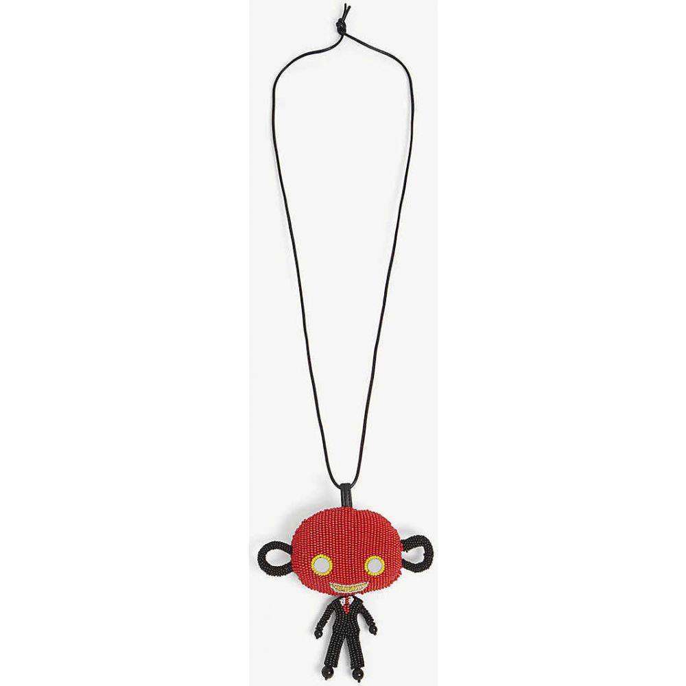 ウォルター ヴァン ベイレンドンク WALTER VAN BEIRENDONCK メンズ ネックレス ジュエリー・アクセサリー【Skattebol bead necklace】RED