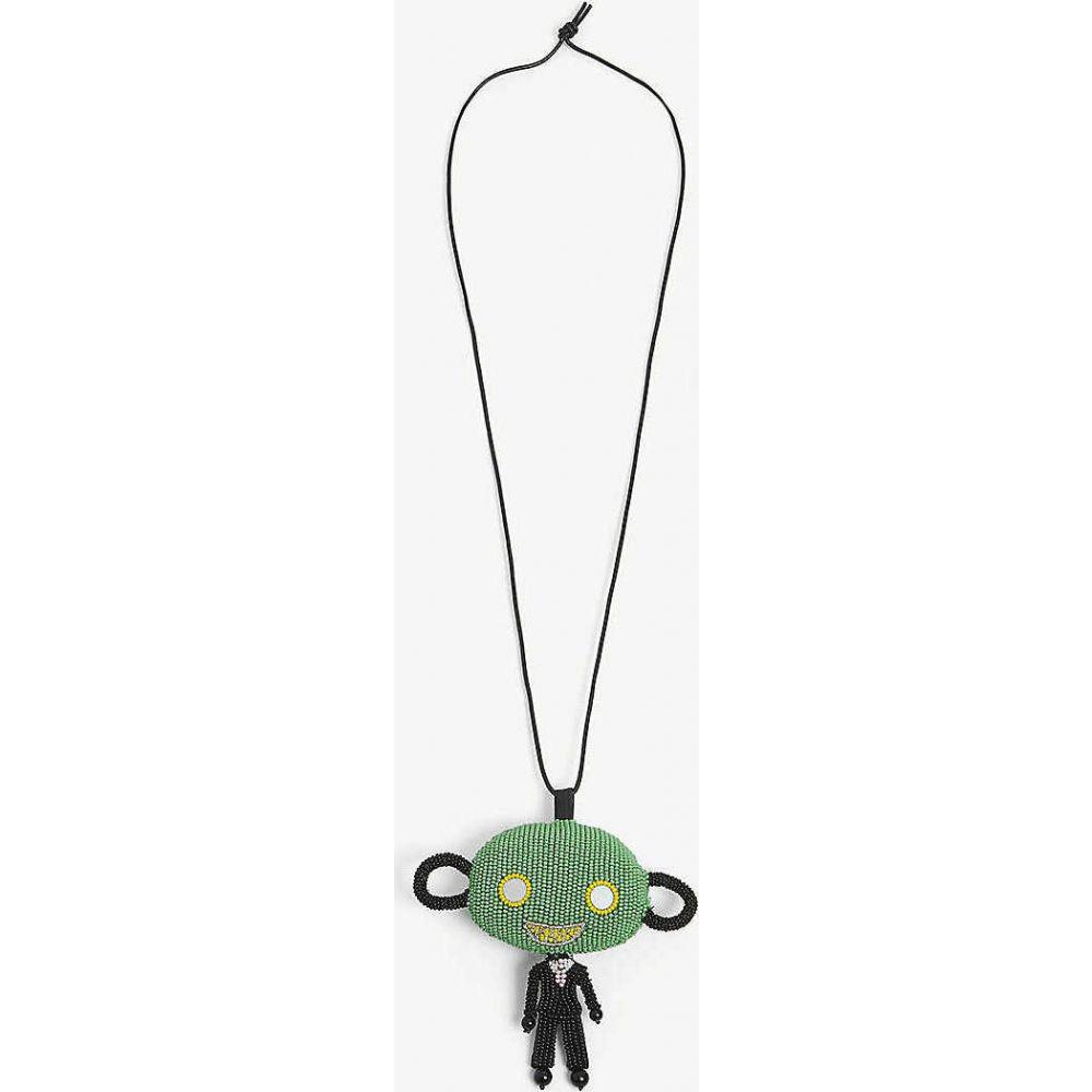 ウォルター ヴァン ベイレンドンク WALTER VAN BEIRENDONCK メンズ ネックレス ジュエリー・アクセサリー【Skattebol bead necklace】GREEN