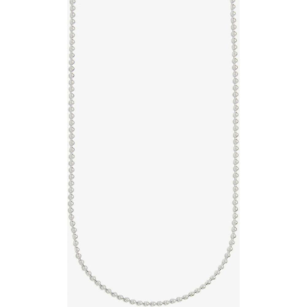 トムウッド TOM WOOD メンズ ネックレス ジュエリー・アクセサリー【Sterling silver ball chain necklace】Silver