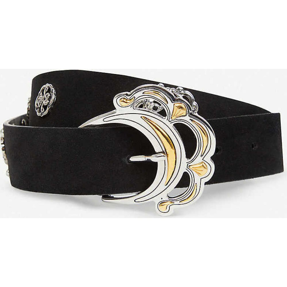 マージュ MAJE レディース ベルト 【Tabac embellished leather belt】BLACK