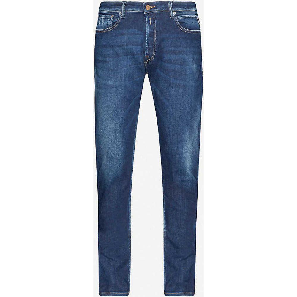 リプレイ REPLAY メンズ ジーンズ・デニム ボトムス・パンツ【Donny slim stretch-denim jeans】DARK BLUE