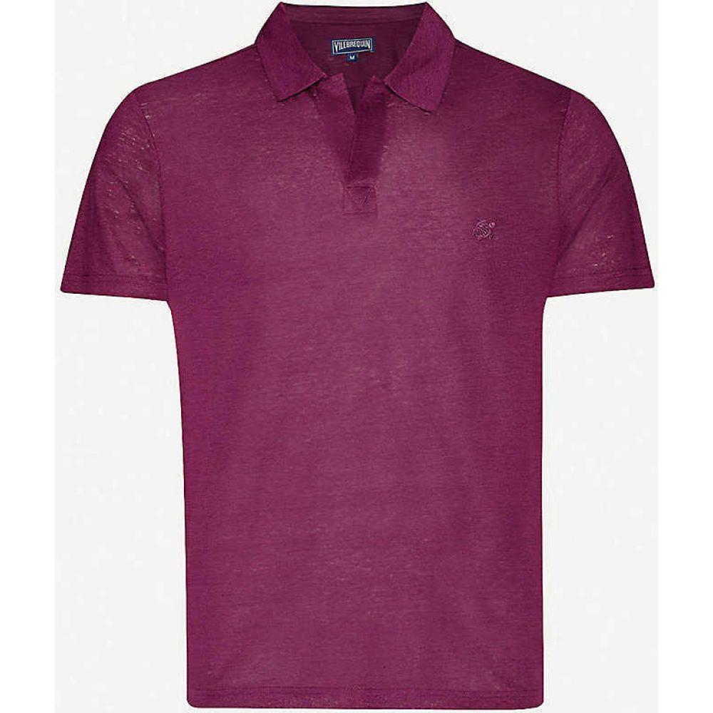 ヴィルブレクイン VILEBREQUIN メンズ ポロシャツ トップス【Embroidered-logo linen polo shirt】Kerala