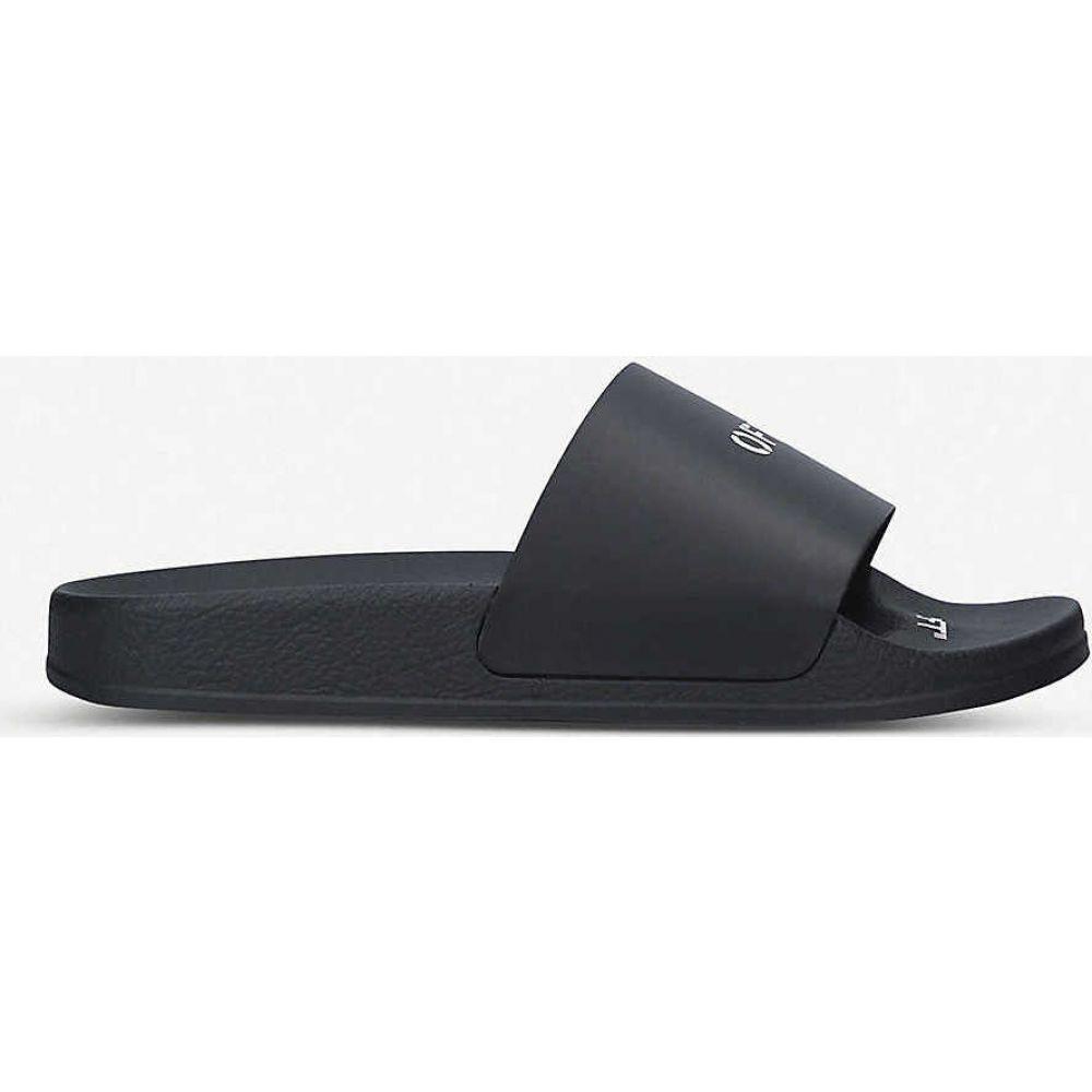 オフホワイト OFF-WHITE C/O VIRGIL ABLOH レディース サンダル・ミュール シューズ・靴【Logo-print rubber pool sliders】BLACK