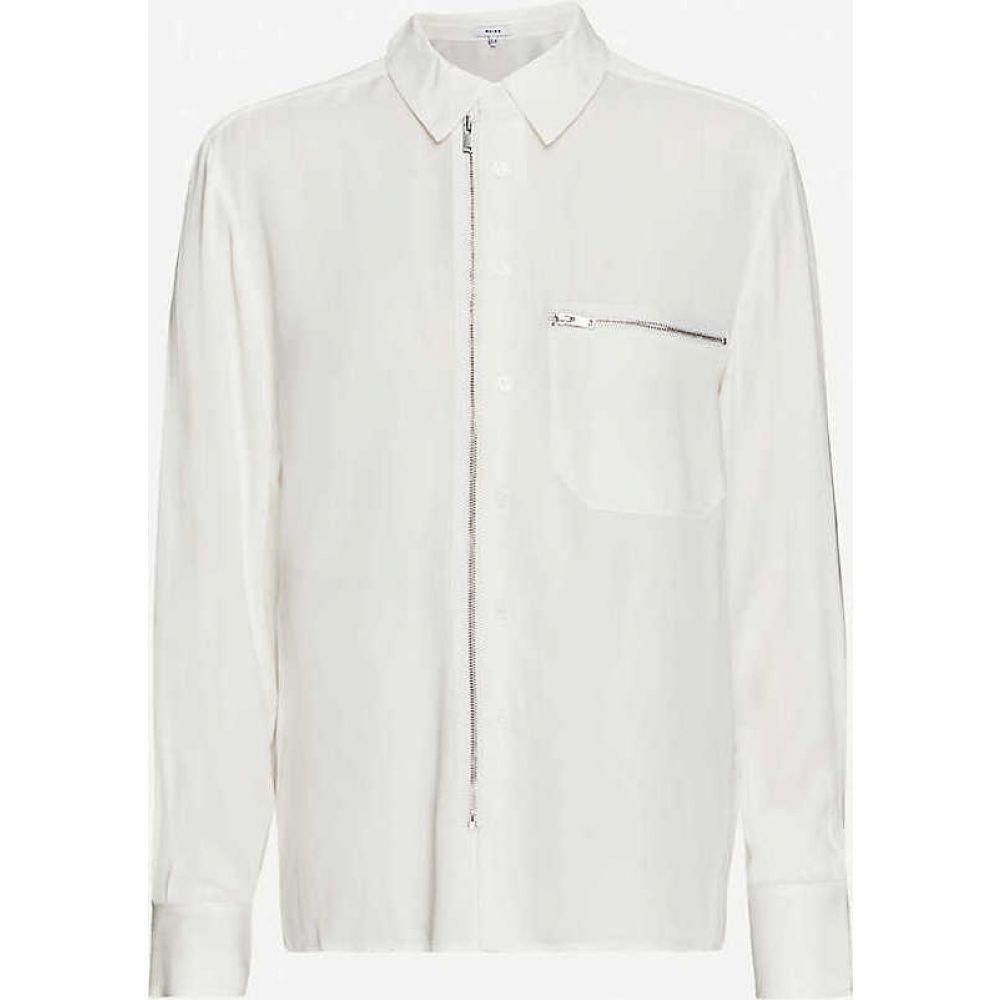 リース REISS レディース ブラウス・シャツ トップス【Caro zipped woven shirt】IVORY