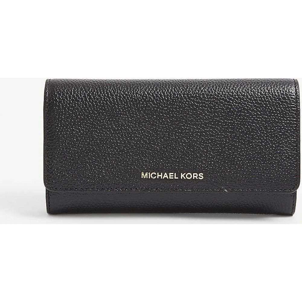 マイケル コース MICHAEL MICHAEL KORS レディース 財布 三つ折り【Jet Set tri-fold leather wallet】BLACK