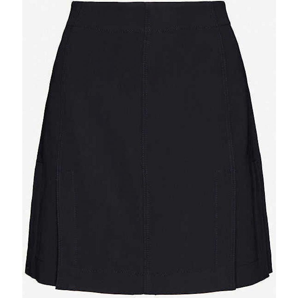 リース REISS レディース ミニスカート スカート【Fran pleated stretch-crepe mini skirt】NAVY