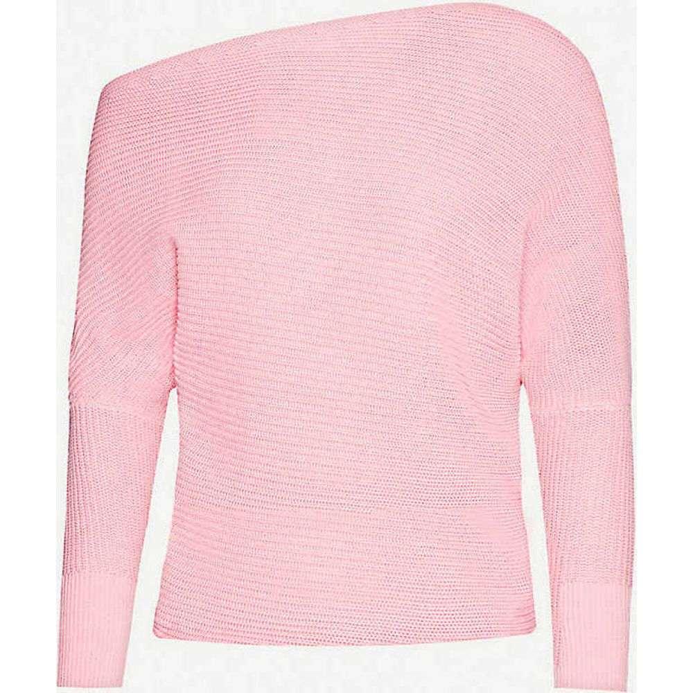 リース REISS レディース ニット・セーター トップス【Ava dropped-shoulder cotton-knit jumper】PINK