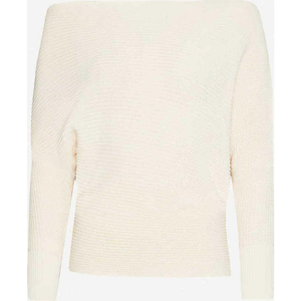 リース REISS レディース ニット・セーター トップス【Ava dropped-shoulder cotton-knit jumper】CREAM