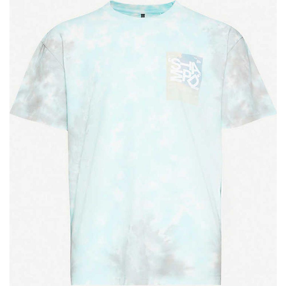 スタンプド STAMPD メンズ Tシャツ トップス【Tumble tie-dye cotton-jersey T-shirt】Teal