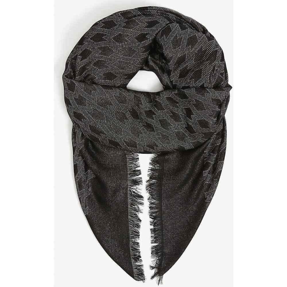 マージュ MAJE レディース マフラー・スカーフ・ストール 【Ezzate cotton-blend scarf】BLACK