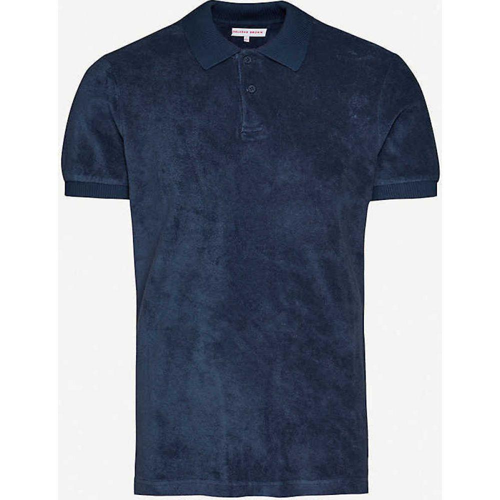 オールバー ブラウン ORLEBAR BROWN メンズ ポロシャツ トップス【Jarrett cotton-towelling polo shirt】Navy