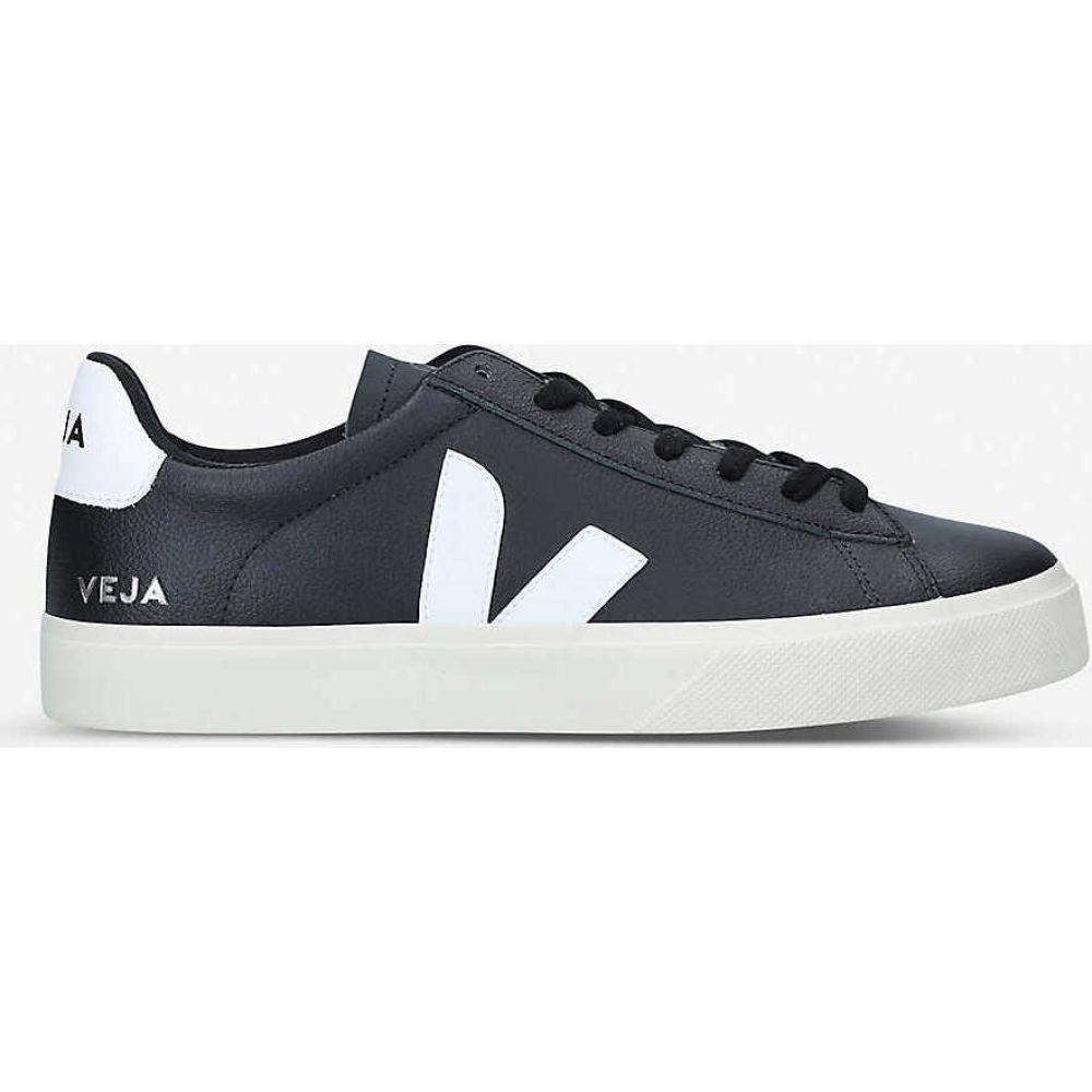 ヴェジャ VEJA メンズ スニーカー シューズ・靴【Campo leather and coated-canvas low-top trainers】BLK/WHITE