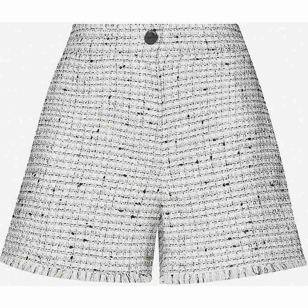 テッドベーカー TED BAKER レディース ショートパンツ ボトムス・パンツ【Adalat fringed tailored metallic-woven shorts】IVORY