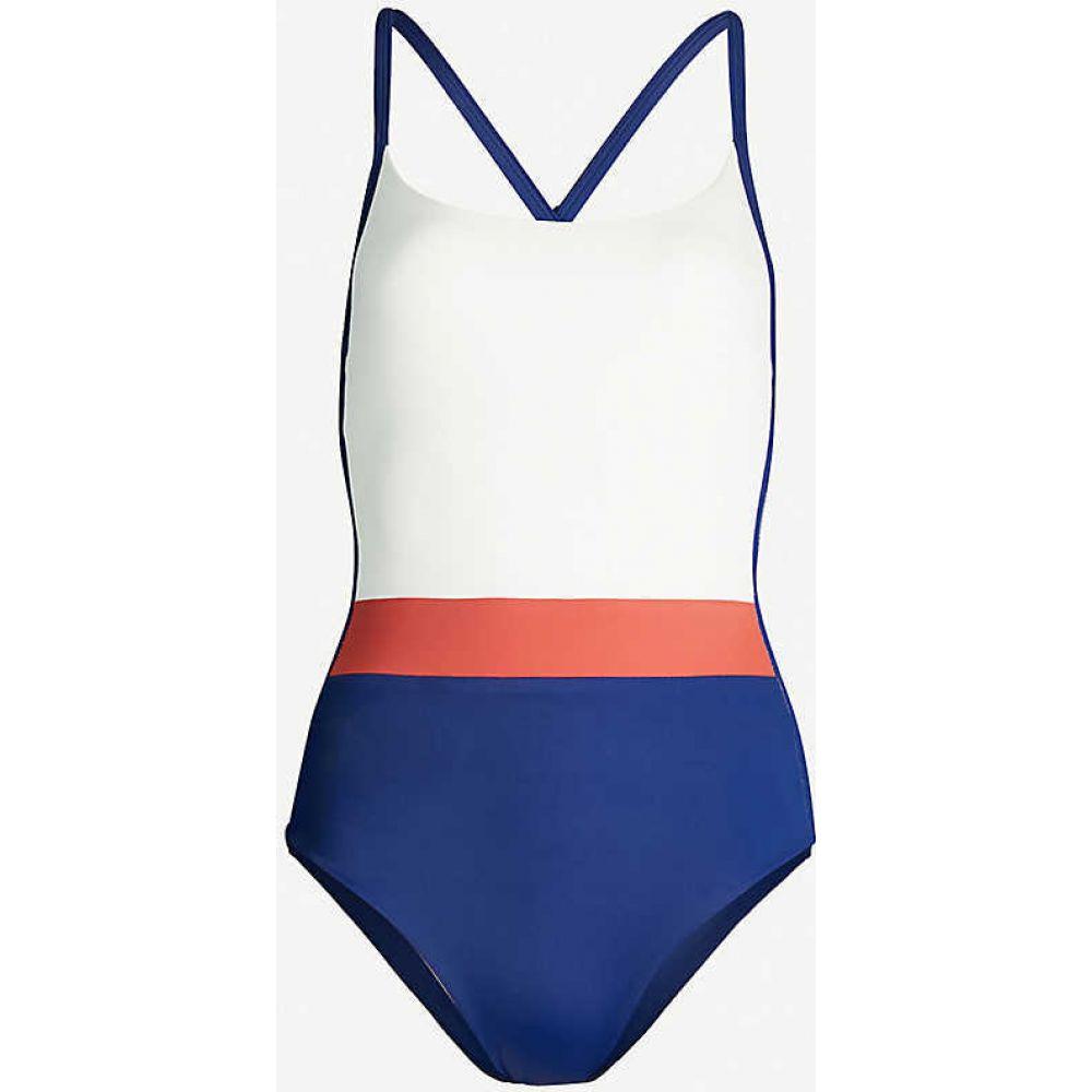 ステイワイルドスイム STAY WILD SWIM レディース ワンピース 水着・ビーチウェア【Open-back contrast-panel swimsuit】NAVY CREAM