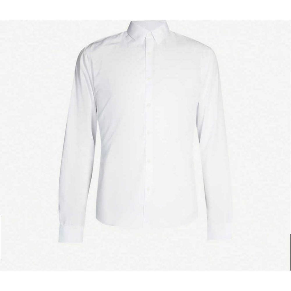 メンズ SANDRO shirt】WHITE サンドロ トップス【Classic-fit シャツ cotton-poplin