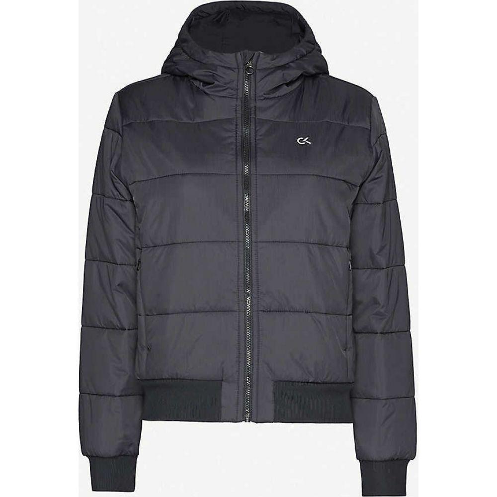 カルバンクライン CALVIN KLEIN レディース ジャケット シェルジャケット アウター【Logo-print padded shell jacket】Ck Black Silver