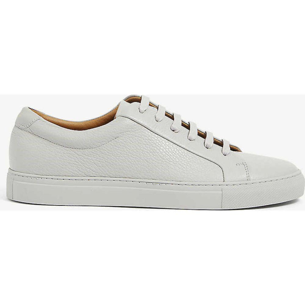 リース REISS メンズ スニーカー シューズ・靴【Luca tumbled leather trainers】GREY