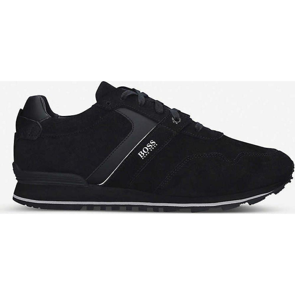 ヒューゴ ボス BOSS メンズ スニーカー シューズ・靴【Parkour panel suede trainers】BLACK