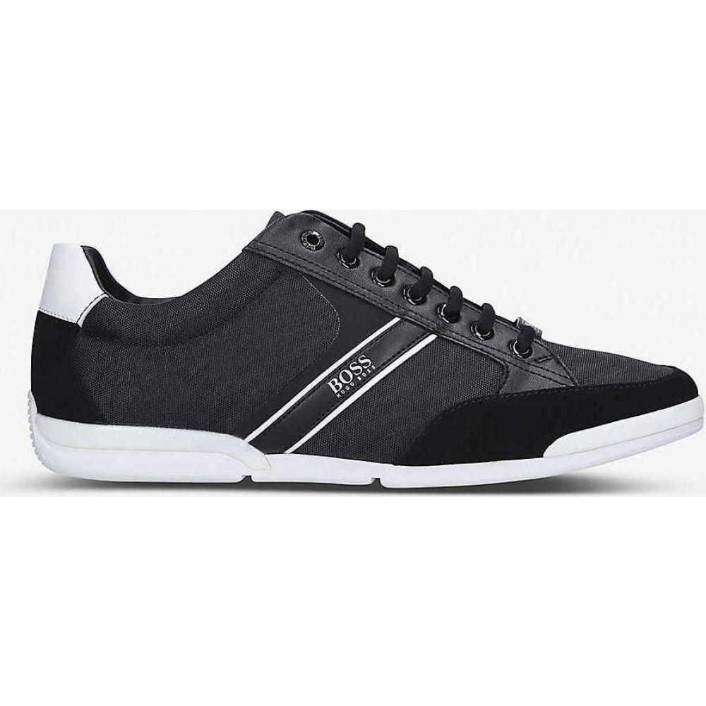ヒューゴ ボス BOSS メンズ スニーカー シューズ・靴【Saturn Pro low-top leather trainers】BLK/WHITE
