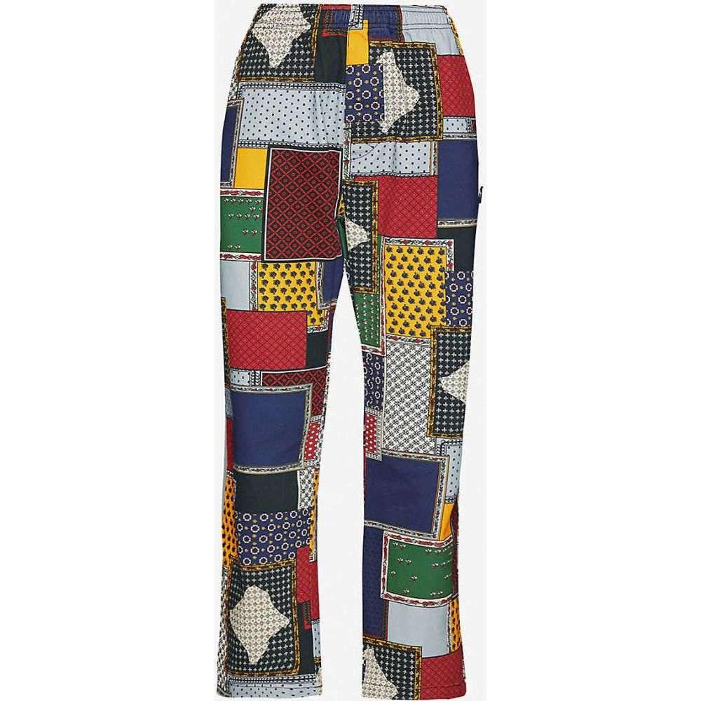 ステューシー STUSSY レディース ボトムス・パンツ 【Patchwork-print corduroy straight-leg trousers】Multi