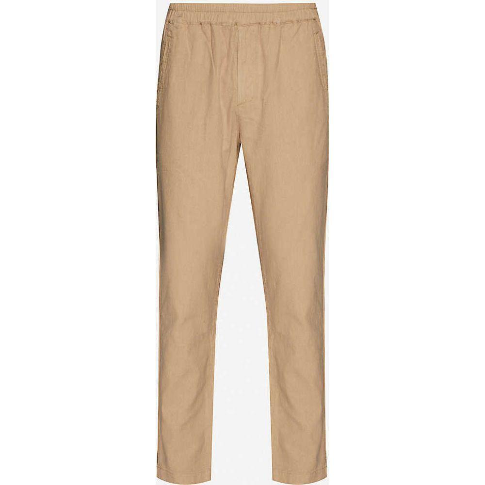 フォーク FOLK メンズ ボトムス・パンツ 【Regular-fit straight-leg linen and cotton-blend trousers】Fog