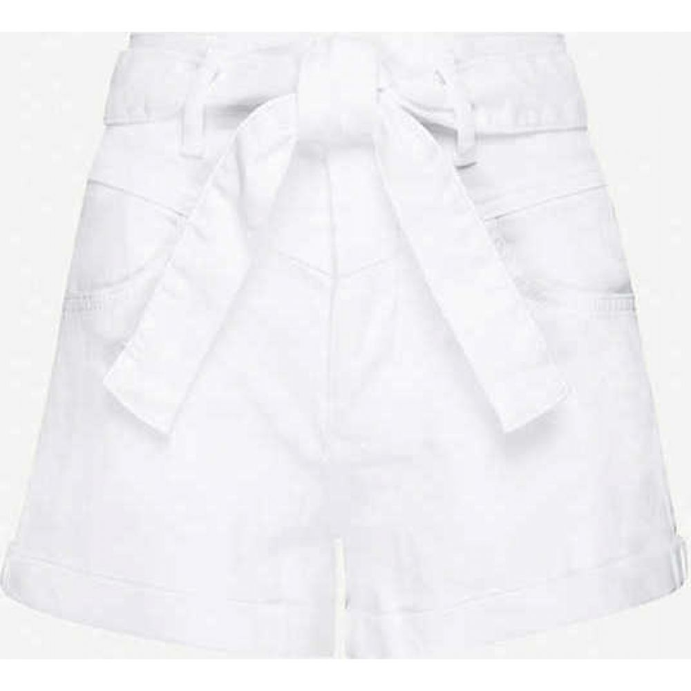 マージュ MAJE レディース ショートパンツ ボトムス・パンツ【Illo belted high-rise stretch-denim shorts】WHITE