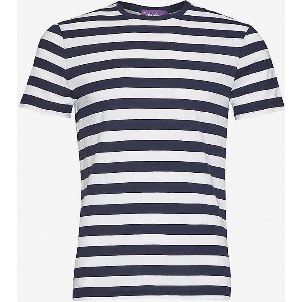 ラルフ ローレン RALPH LAUREN PURPLE LABEL メンズ Tシャツ トップス【Breton stripes cotton-jersey T-shirt】Navy