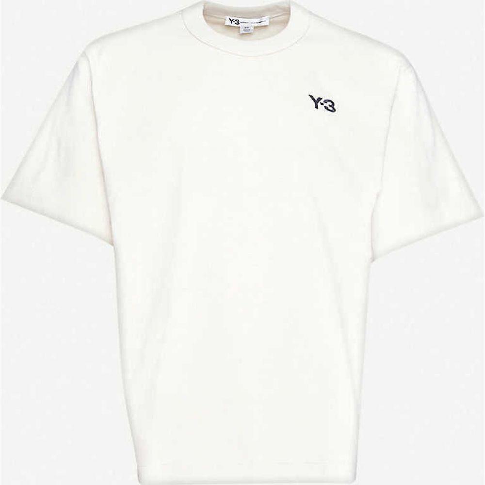 ワイスリー Y3 メンズ Tシャツ トップス【Logo-print cotton-jersey T-shirt】Ecru
