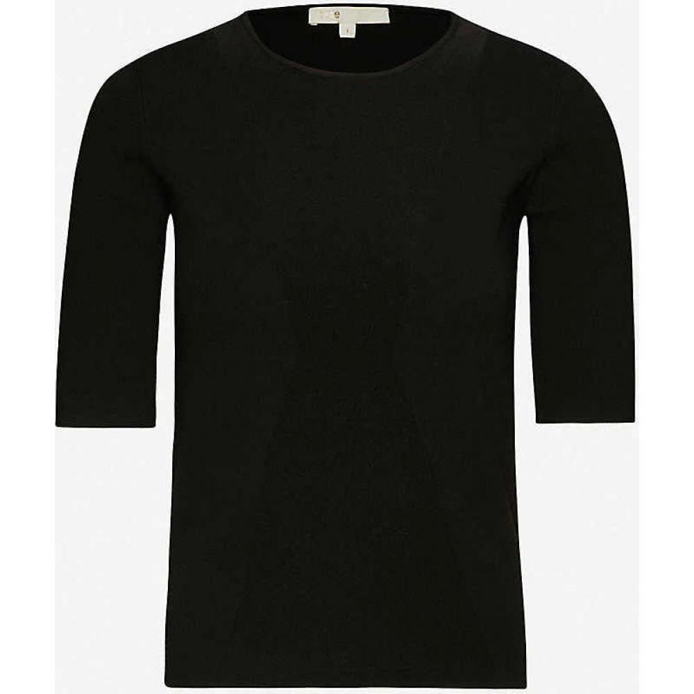 マージュ MAJE レディース ニット・セーター トップス【Musa round-neck stretch-knit jumper】BLACK