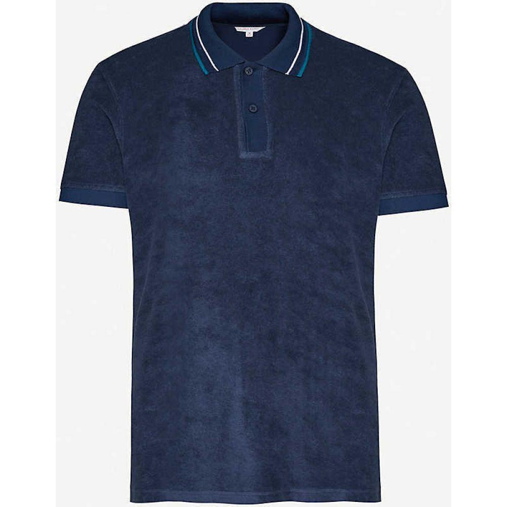 オールバー ブラウン ORLEBAR BROWN メンズ ポロシャツ トップス【Sawyer cotton-terry cloth polo shirt】Navy