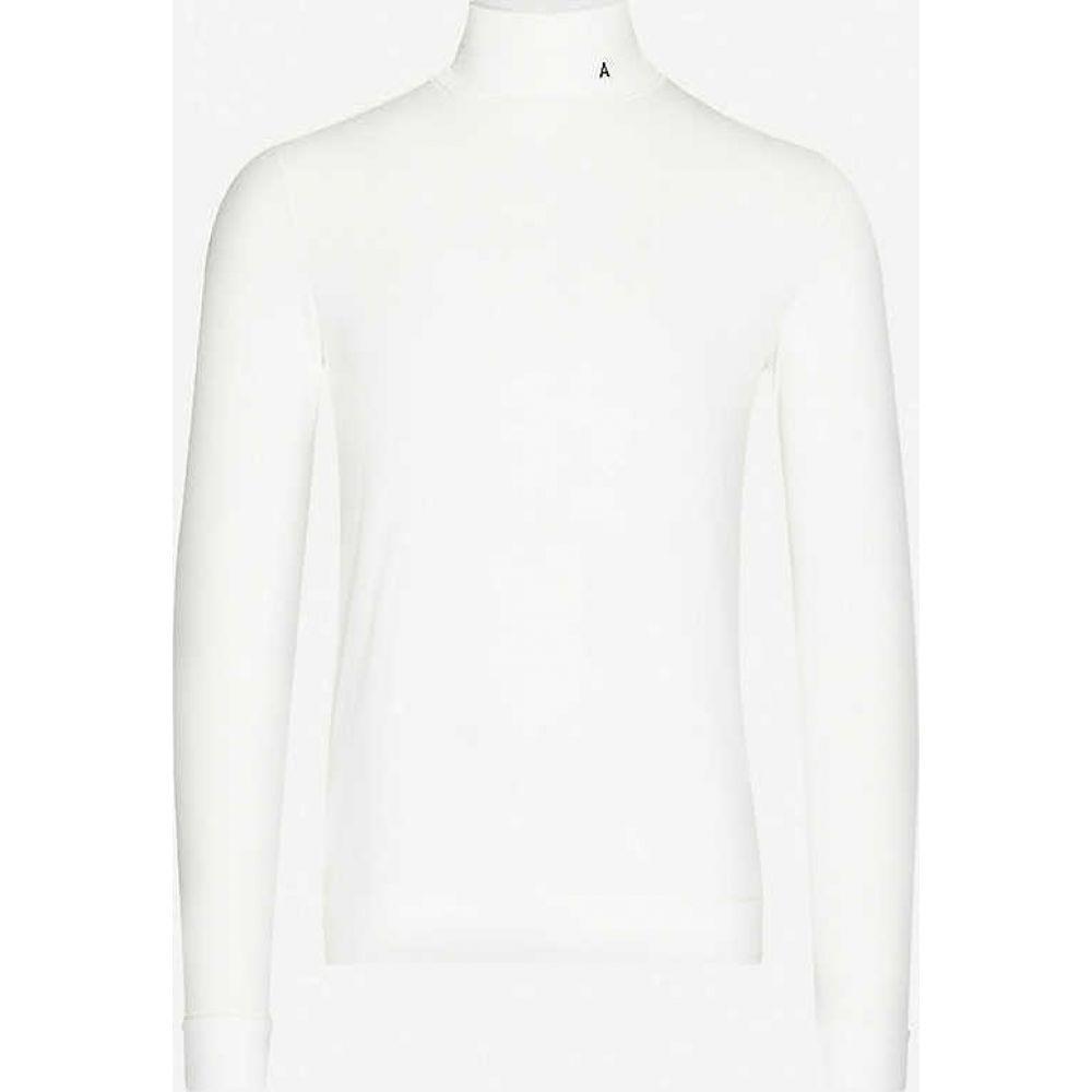 アンブッシュ AMBUSH メンズ 長袖Tシャツ トップス【Turtleneck stretch-jersey top】White