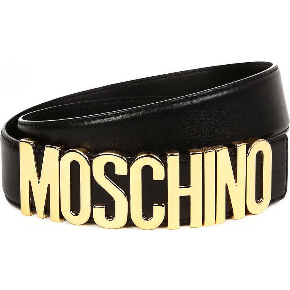 モスキーノ MOSCHINO レディース ベルト 【Logo belt】BLACK