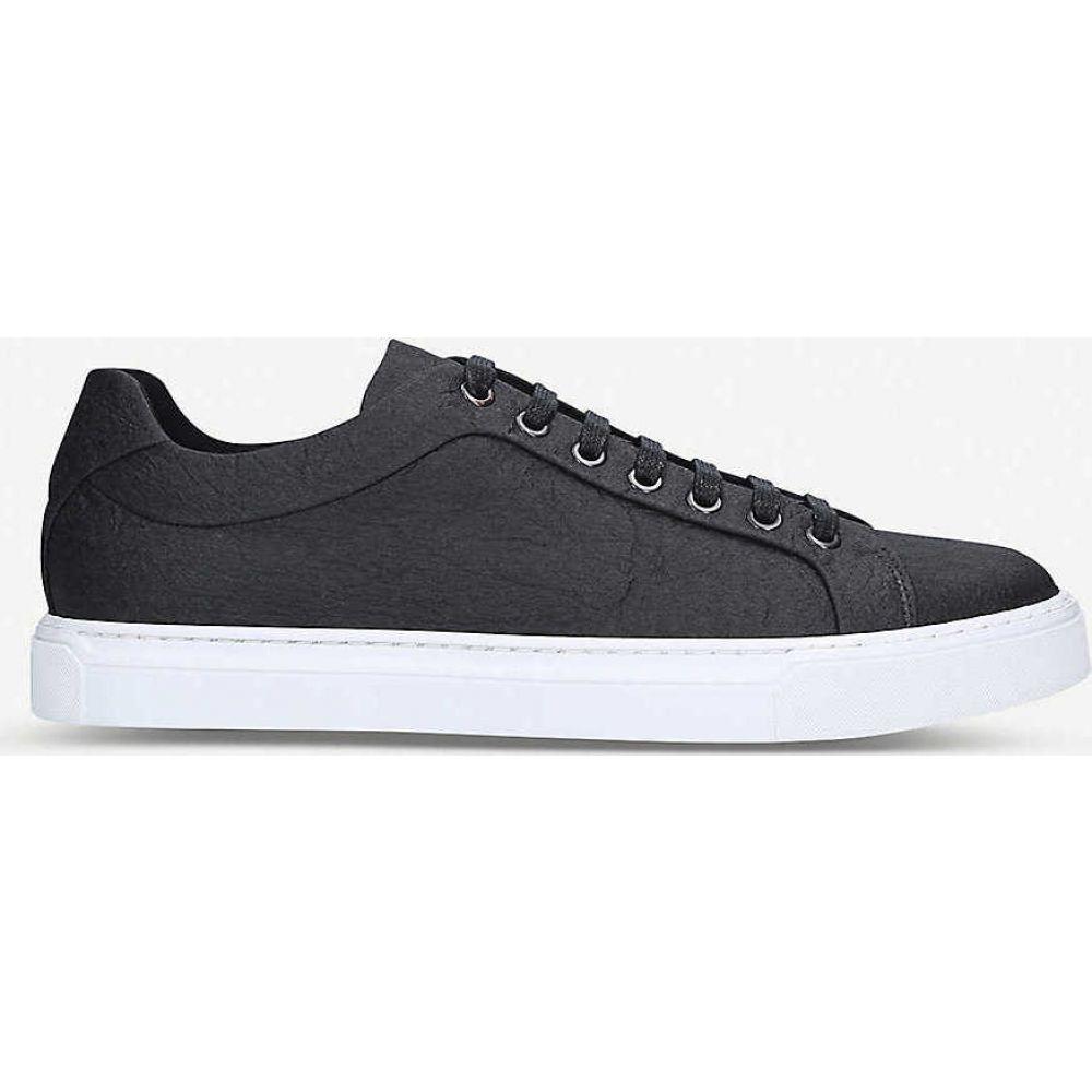 ヒューゴ ボス BOSS メンズ スニーカー シューズ・靴【Hologram low-top Pinatex trainers】BLACK