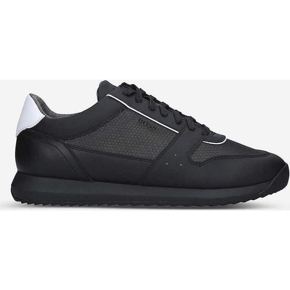 ヒューゴ ボス BOSS メンズ スニーカー シューズ・靴【Sonic leather and mesh trainers】BLACK
