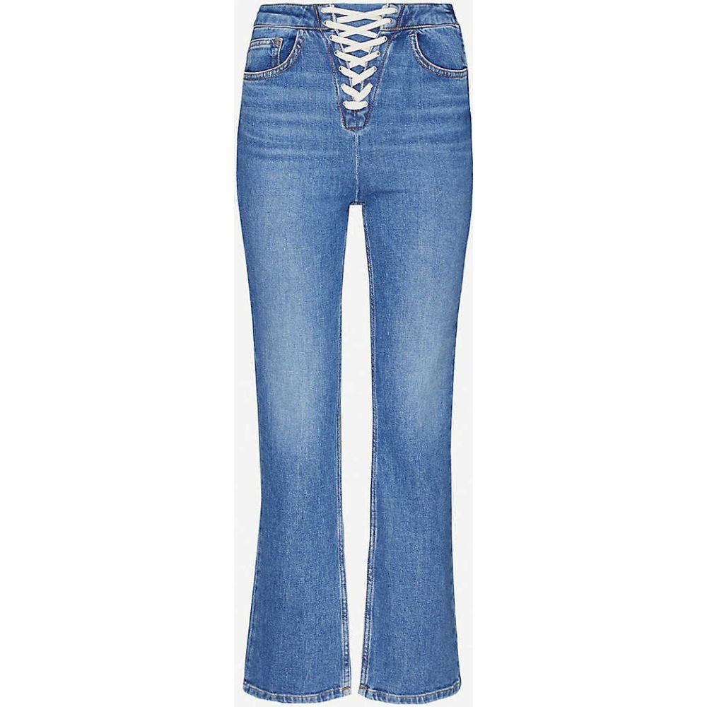 マージュ MAJE レディース ジーンズ・デニム ボトムス・パンツ【Paper high-rise stretch-denim jeans】BLUE