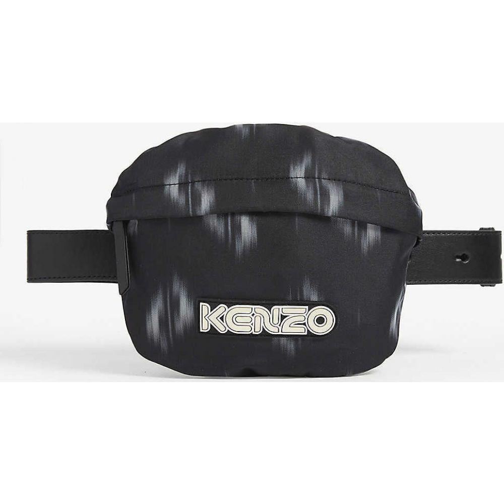 ケンゾー KENZO レディース ボディバッグ・ウエストポーチ バッグ【Graphic-print canvas belt bag】BLACK