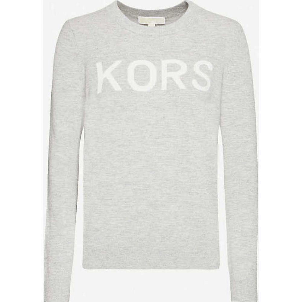 マイケル コース MICHAEL MICHAEL KORS レディース ニット・セーター トップス【Logo-print knitted jumper】Pearl Hther