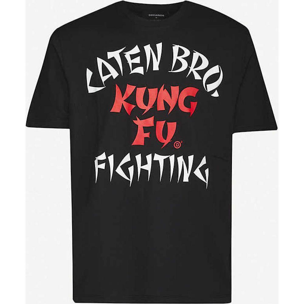 ディースクエアード DSQUARED2 メンズ Tシャツ トップス【Graphic-print cotton-jersey T-shirt】BLACK