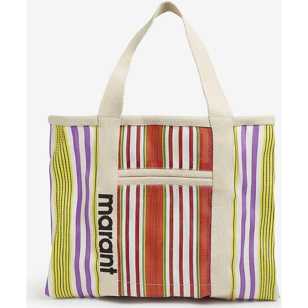 イザベル マラン ISABEL MARANT レディース トートバッグ キャンバストート バッグ【Warden striped canvas tote bag】Orange/White