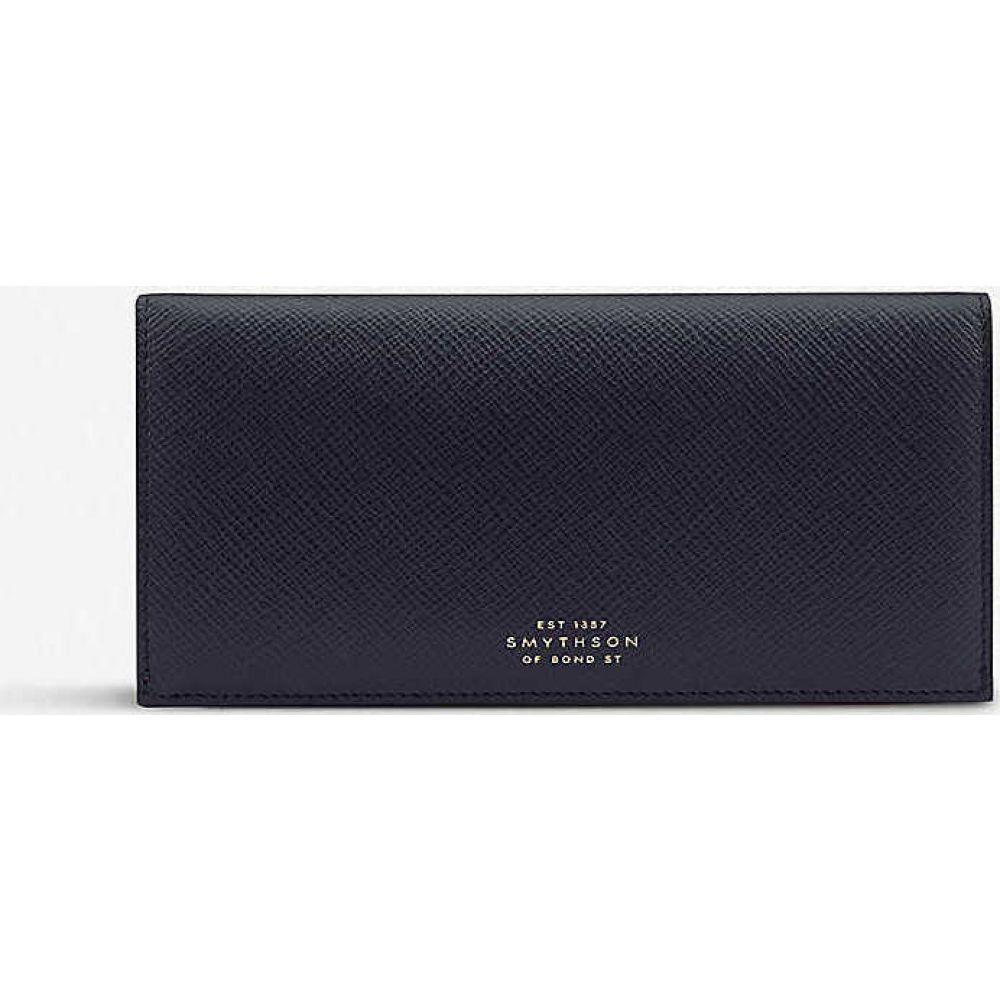 スマイソン SMYTHSON レディース 財布 【Panama calf leather slim coat wallet】NAVY