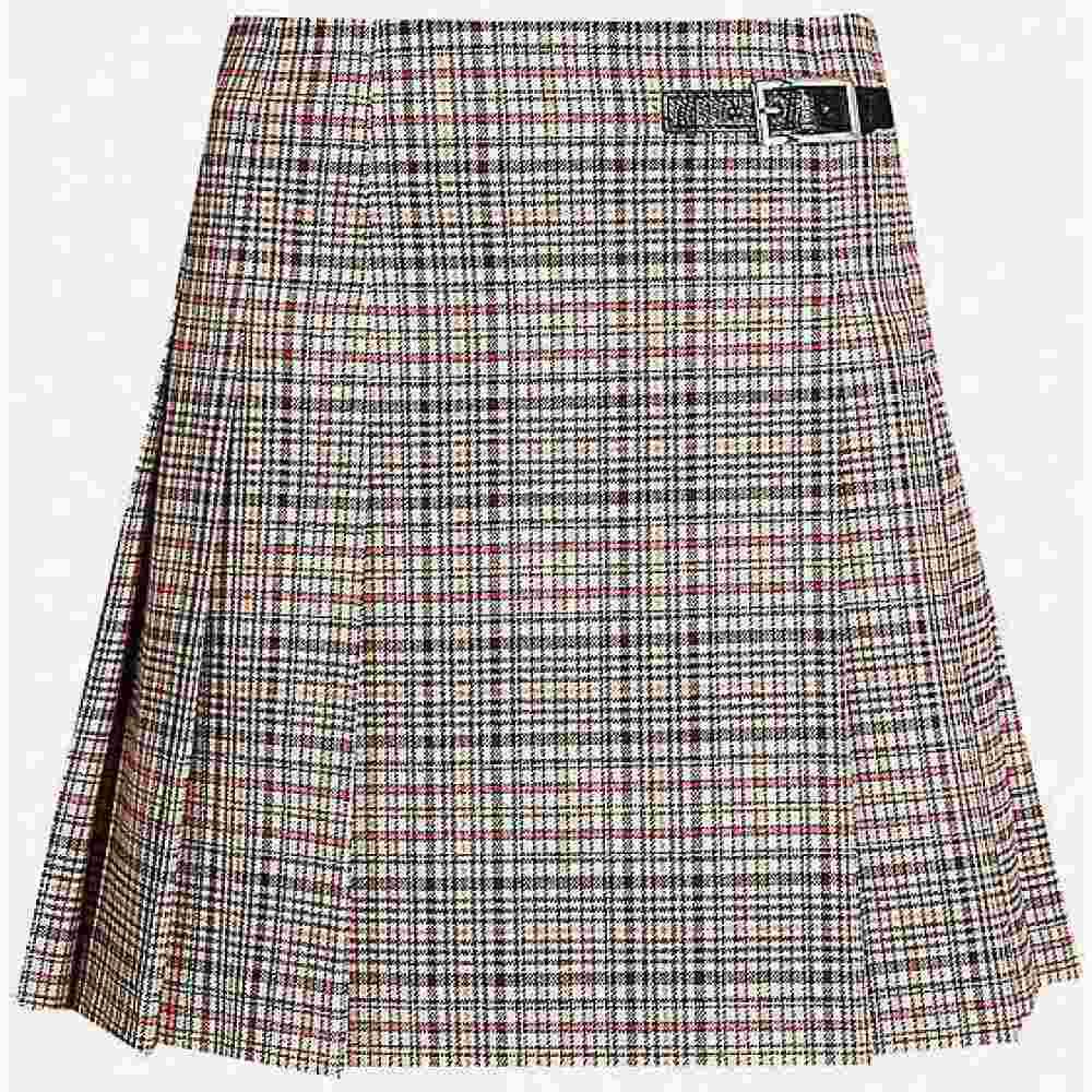 クローディ ピエルロ CLAUDIE PIERLOT レディース ミニスカート スカート【Sirene checked pleated woven mini skirt】Multico