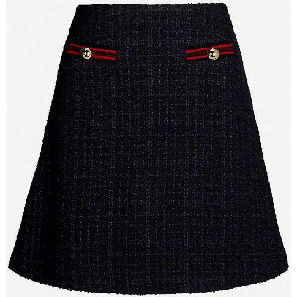 クローディ ピエルロ CLAUDIE PIERLOT レディース ミニスカート スカート【Savanah button-embellished boucle skirt】Navy