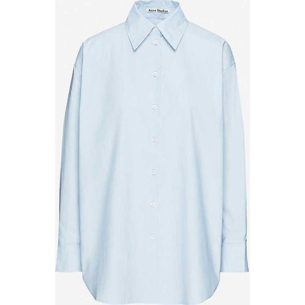 アクネ ストゥディオズ ACNE STUDIOS レディース ブラウス・シャツ トップス【Relaxed-fit cotton shirt】Light Blue
