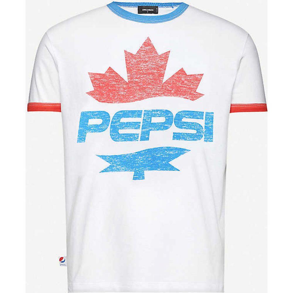 ディースクエアード DSQUARED2 メンズ Tシャツ トップス【#D2XPepsi graphic-print cotton-jersey T-shirt】BLACK