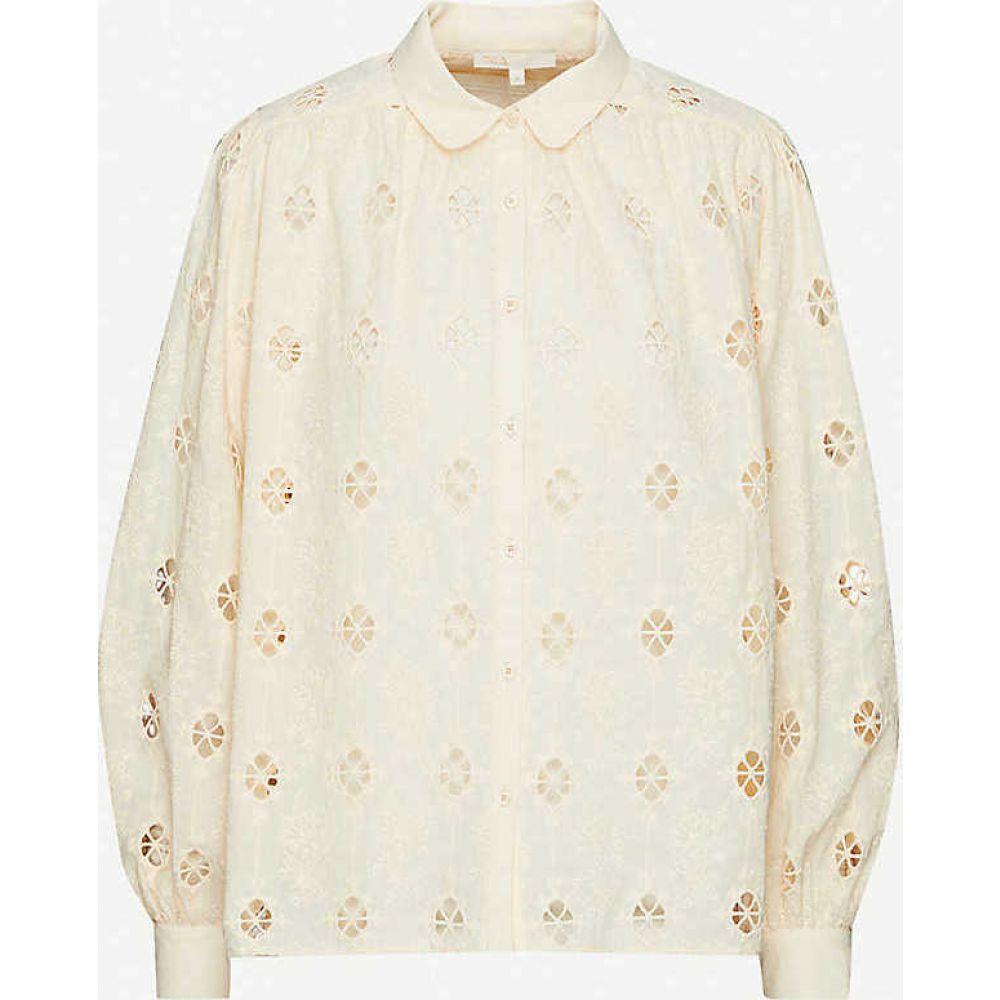 マージュ MAJE レディース ブラウス・シャツ トップス【Caleen embroidered cotton shirt】NUDE