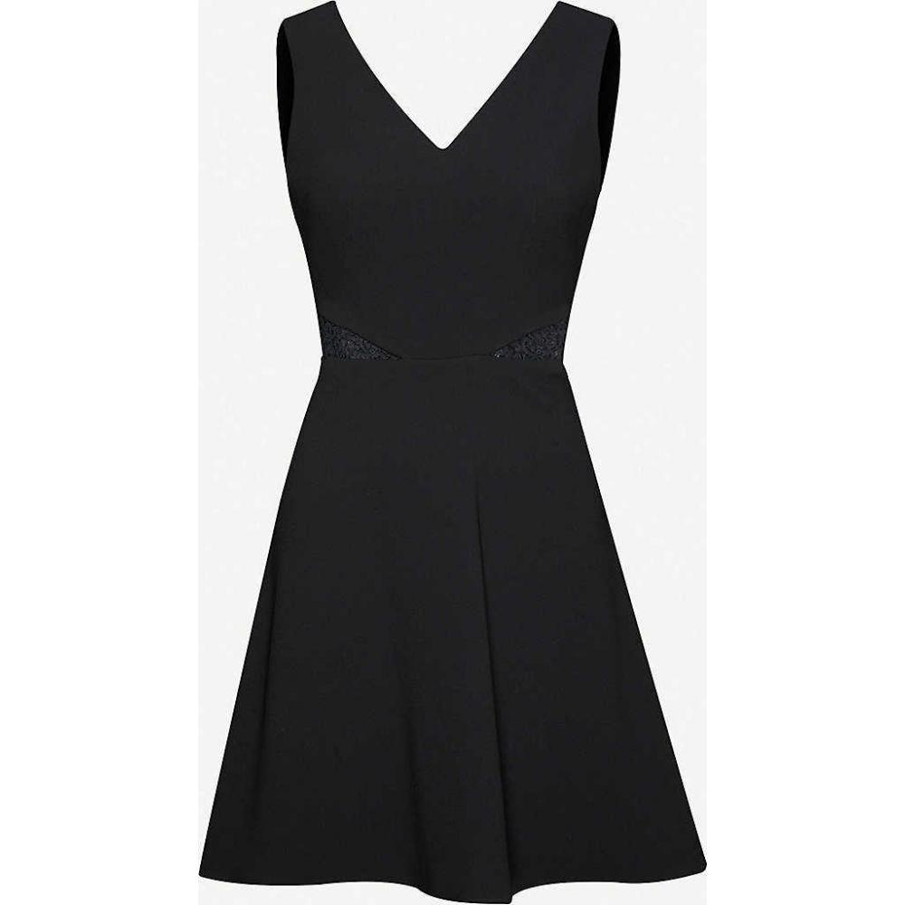 クローディ ピエルロ CLAUDIE PIERLOT レディース ワンピース ミニ丈 ワンピース・ドレス【Lace-embroidered crepe mini dress】BLACK